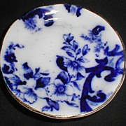 Lovely Flow Blue Butter Pat Floral Design