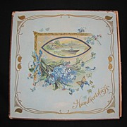 Lovely Lithographed Handkerchief Folder, Aesthetic Design