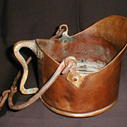 Primitive Copper Pot with Brass and Cast Iron