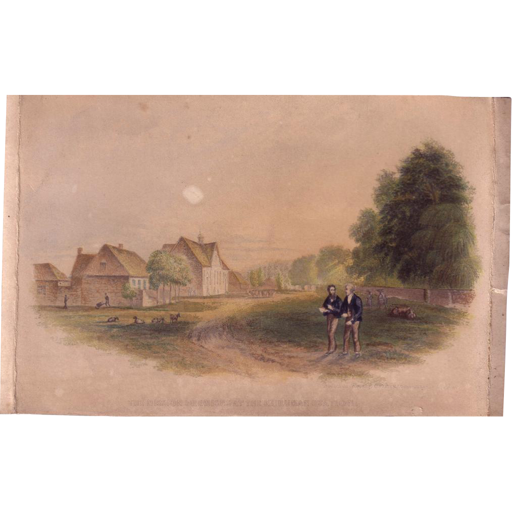 Authentic 1842 Color Print by George Baxter