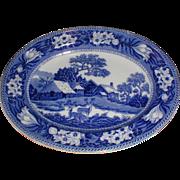 Lovely Deep Blue Transferware Platter FALLOW DEER Wedgwood