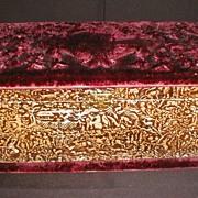 Wonderful Velvet Top, Embossed Keepsake Box