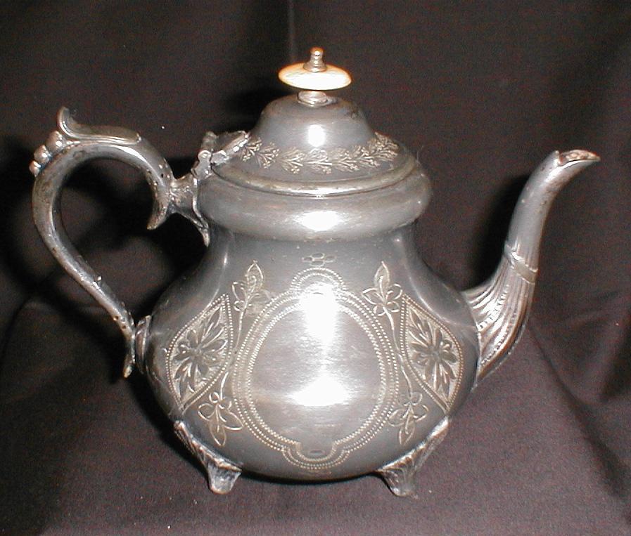 Vintage Edwardian Silverplate Teapot, Britanoid