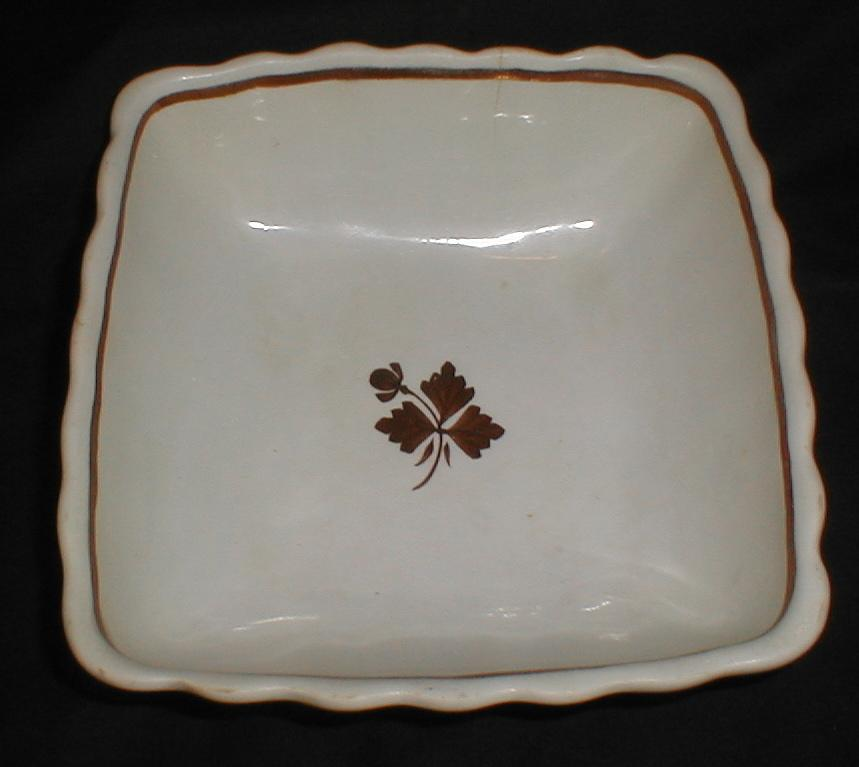 Alfred Meakin Square White Ironstone Bowl, Tea Leaf