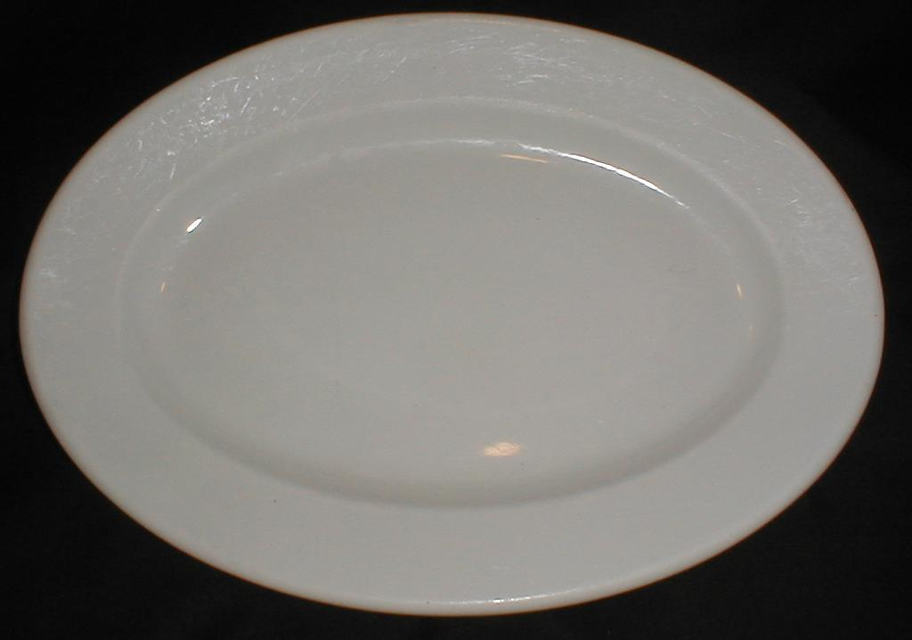 Early White Ironstone Platter, Oval, Mayer China