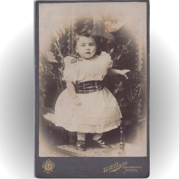 Charming Cabinet Photograph of a Baby Girl (Toddler)