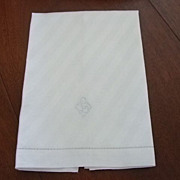 "Linen Towel With Embroidered ""L"""