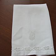 """15 x 22"""" Huck Linen Towel """"MB"""""""