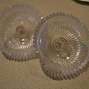 """Pr. Of  6""""  Glass Adapters With Candle Holders"""