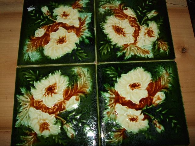 "Set Of 4 English 6x6""  Tiles"