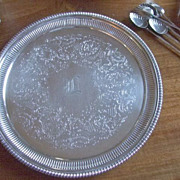 "Ellis Barker 9  3/4"" Tray With Hand Engraved ""L"""