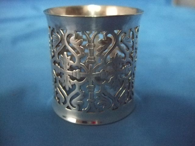 Reed, Barton  & Co Pierced And Reticulated Silver PLated Napkin Ring