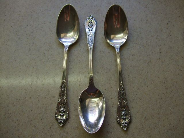 "Set OF 3 ""Rose Point"" By Wallace Teaspoons"