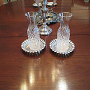 """Set of 3 Ellis Barker Silver On Copper 7"""" Fancy Coaster"""