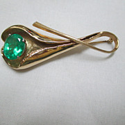 Custom Designed 14K/Emerald Brooch
