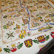 "46 x 56"" Linen ""Germany"" Tablecloth"