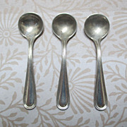 "Set Of 3 Sterling Salt Spoons, ""Commonwealth"""