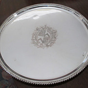 "14"" Silver On Copper Ellis Barker Tray"
