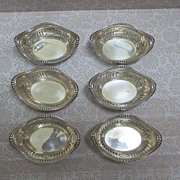 Set Of 6 Gorham Sterling Nut Dishes (2 Sets Available)