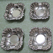 Set Of Four Sterling FB Rogers Nut Dishes