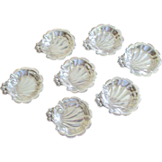 Set Of 7 Sterling Lunt Nut Dishes
