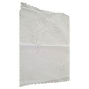 Vintage  Hand Embroidered Border Pillow Slip