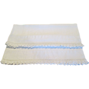 Pr. Vintage Linen Pillow Cases