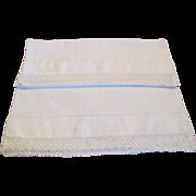 Pr. Vintage Linen Pillow Cases C:1950
