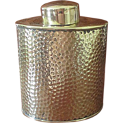 Joseph Sankey & Sons Brass Tea Caddy  C:1900