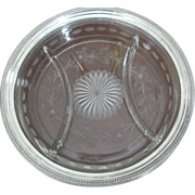 Sterling/Cut Etched Condiment Tray