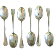 Set Of 6 Hanoverian Rat Tail Dessert Spoons