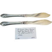 Pr Silver Plated Cheese Knives
