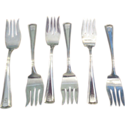 "Set Of 6 ""George Washington"" Forks ""G"" C:1913"