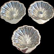 Set Of 3 Shell Salt Keeps C:1950