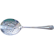 Repousse Silver Plated Berry/Casserole Spoon C:1955