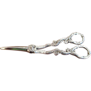 Vintage English Silver Plated Grape Shears/Scissors