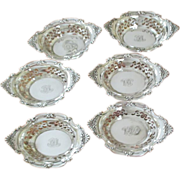 "Set of 6 Sterling Gorham Nut Cups in ""Cromwell"""