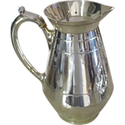 English Silver Plated Jug With Original Insulators C:1870