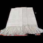 "Set Of 3 Damask Linen ""Show Towels: C:1930"