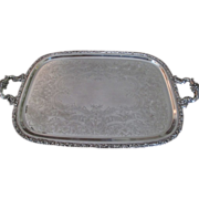 Webster Wilcox/IS Silver Plated Waiter Tray  Early 1900's