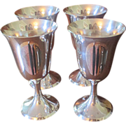 Set Of 4 Stieff Sterling Goblets