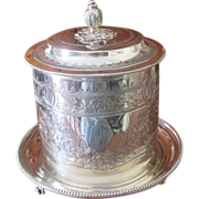 English Victorian Biscuit Box By Atkin Bros C1890