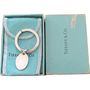 Vintage Sterling Tiffany Key Ring