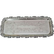 Fabulous Ellis Barker Pierced Border  Footed Tray C:1912