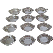 Set Of 12 Gorham Sterling Nut Dishes Pattern #A4775  (2 Sets Available)