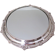 "Silver Plated 15 3/4"" Mirror Plateau"