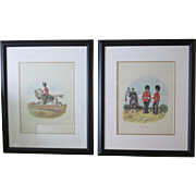Pr. Framed Lithographs By English Military Artist, Richard Simkin
