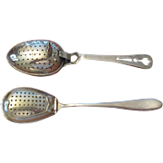 Two Vintage English Silver Plated Tea Strainer/Infusers