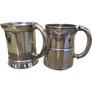 Pr. Victorian Silver Plated Mugs C:1880