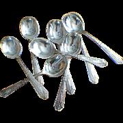 "Set Of 8 Wallace, ""Astor"" Gumbo Spoons C:1925"